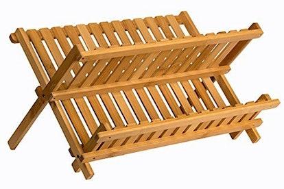 Sagler Bamboo Wood Dish Rack