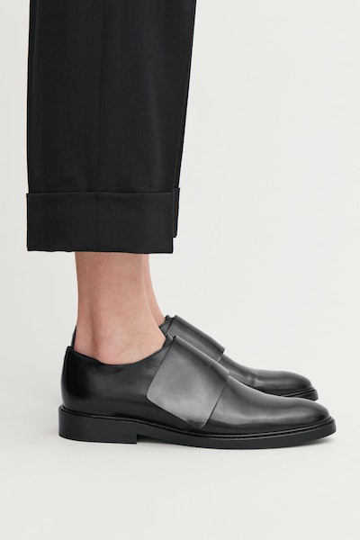 Wrap-Over Leather Brogues