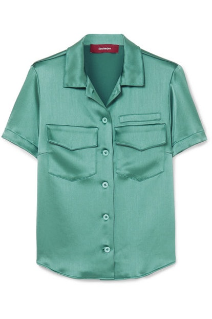 Crinkled Satin Shirt
