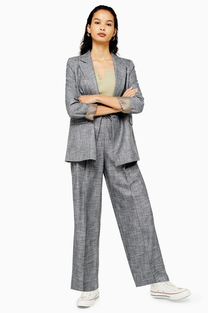 Salt And Pepper Double Breasted Suit