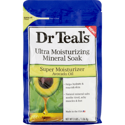 Dr Teal's Ultra Moisturizing Mineral Soak in Super Moisturizer Avocado Oil