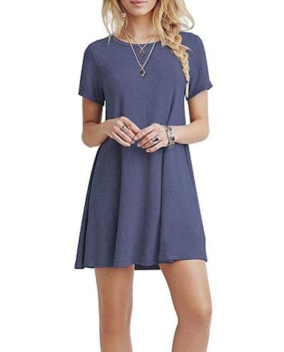 KORSIS Summer Casual T Shirt Dress