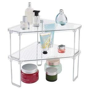mDesign Corner Organizer Shelves (2-Pack)