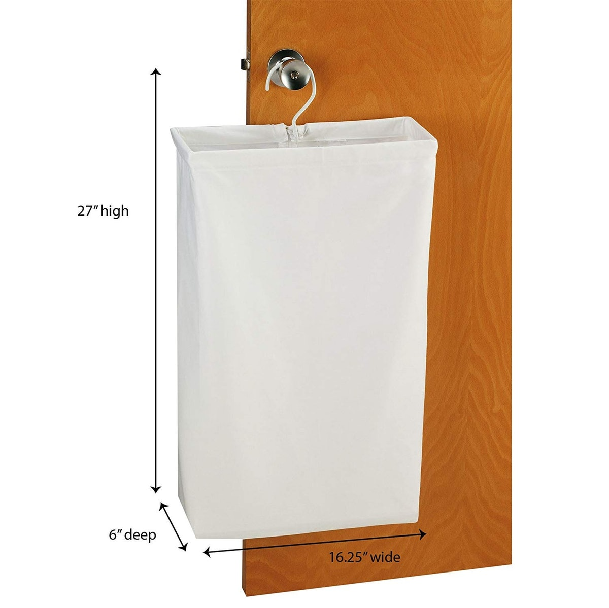 Household Essentials Hanging Cotton Laundry Bag