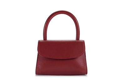 Mini Bordeaux Leather Bag