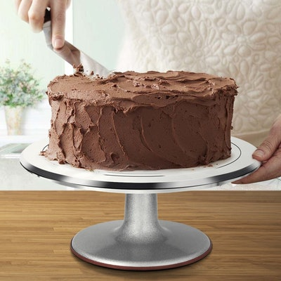 Kootek 12-Inch Aluminum Alloy Revolving Cake Stand And Cake Decorating Supplies