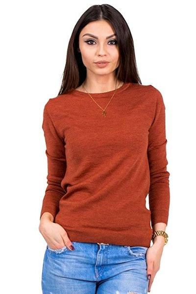 KNITTONS Merino Wool Crew Sweater