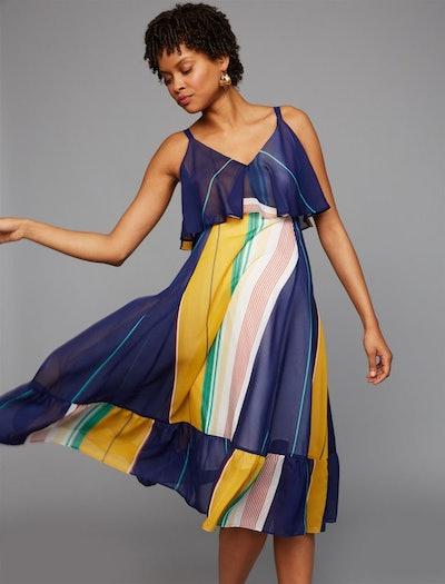 Striped Flounce Dress