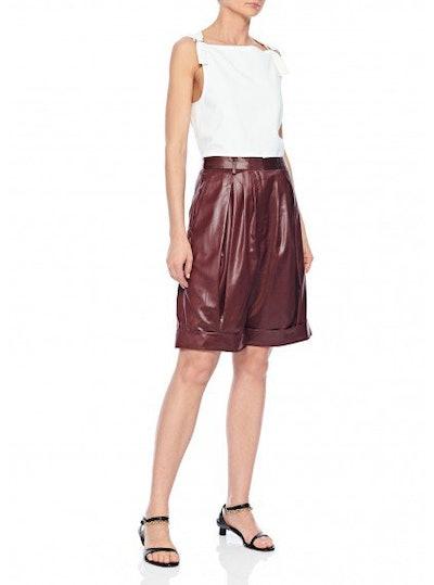 Liquid Drape Pleated Shorts