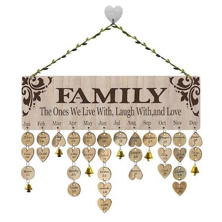 Family Birthday Reminder Calendar