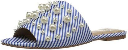 The Fix Faris Pearl-Encrusted Slide Sandal