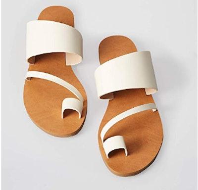find. Women's Asymmetric Toe-Thong Flat Sandals Slipper