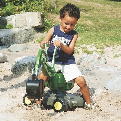 John Deere Digger Ride-On Toy