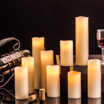 Enpornk Flameless Candles (9 Pieces)