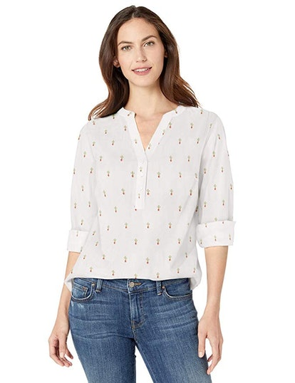 Amazon Essentials Women's Long-Sleeve Cotton Popover Shirt