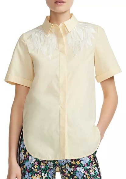 Civers Embroidered Short-Sleeve Button-Down Shirt