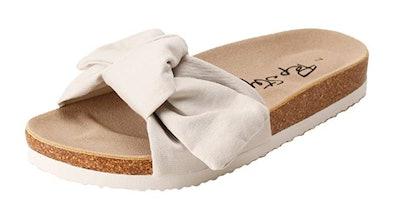 PepStep Canvas Knot Slide Sandals
