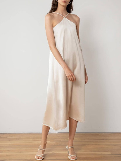 Leticia Halter Silky Dress