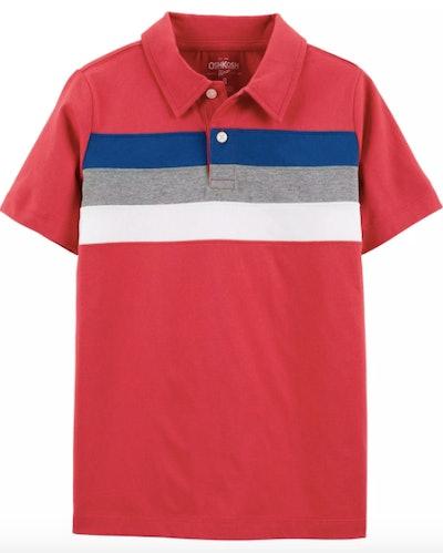 Boys Chest Stripe Jersey Polo