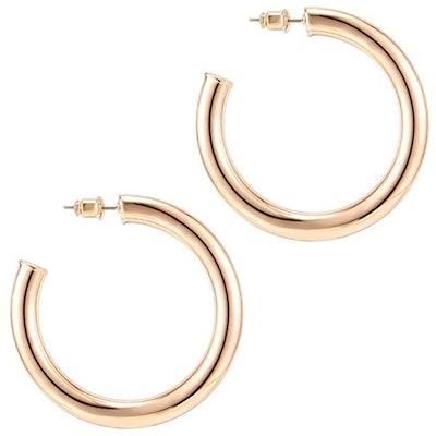 PAVOI Lightweight Gold Hoops
