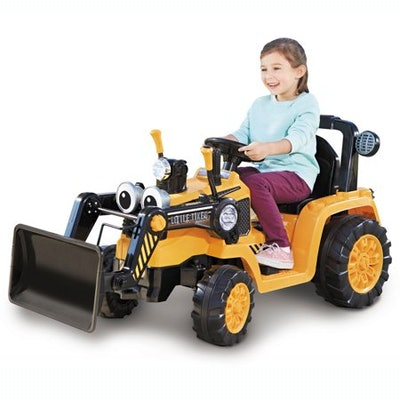 Cozy Dirt Digger Electric 12V Battery Ride On Toy with Digger