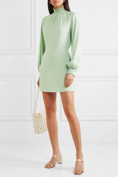 The C.J. Shirred Crepe Mini Dress