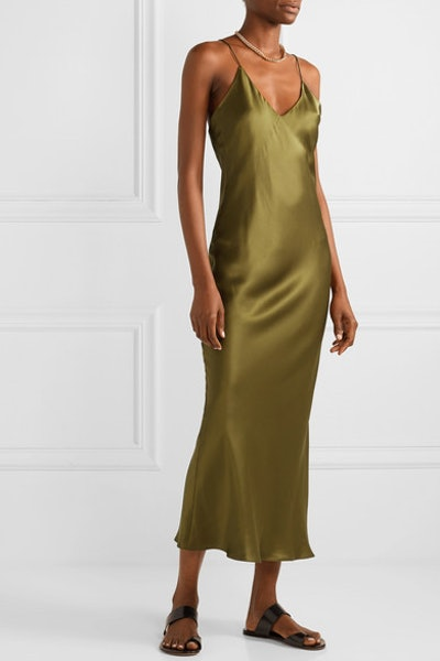 Lewis Silk-Charmeuse Maxi Dress