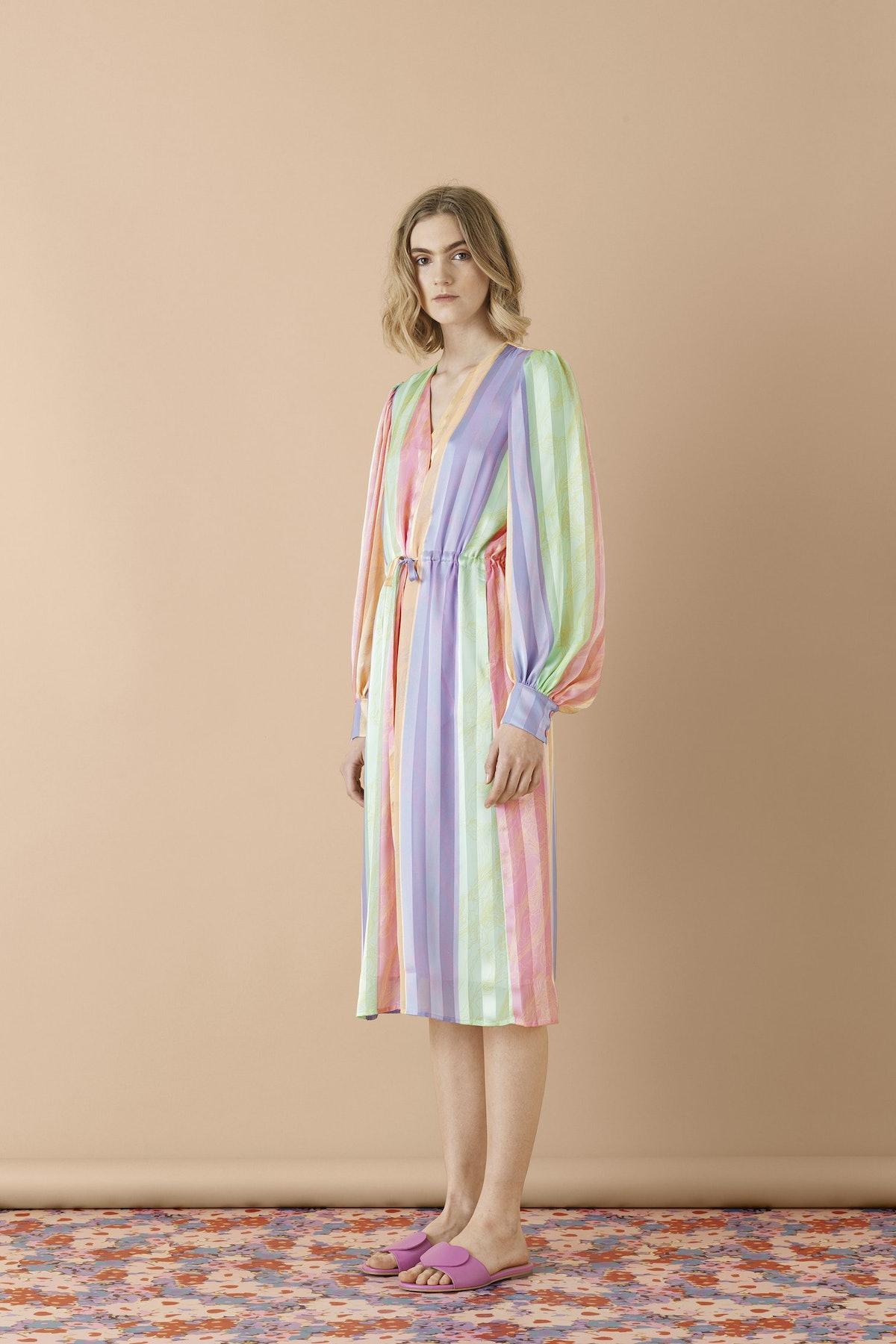 Altitude Stripes Violet Dress