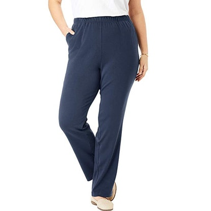 Woman Within Women's Plus Size 7-Day Knit Straight Leg Pant