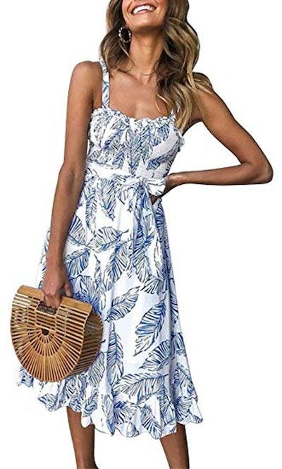 PRETTYGARDEN Printed Midi Dress