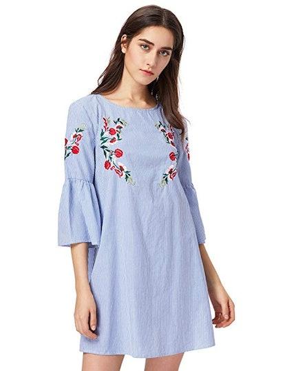 Floerns Bell Sleeve Mini Dress