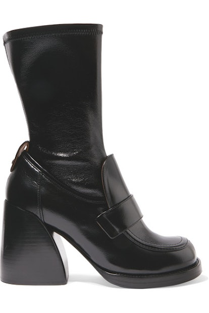 Adelie Glossed-Leather Boots