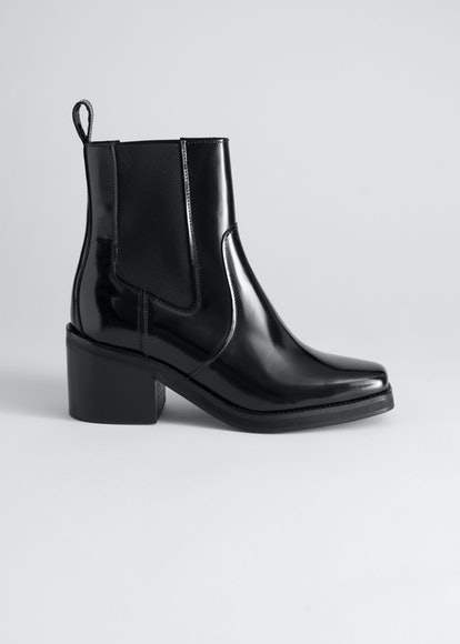 Square Toe Leather Boots