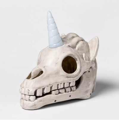 Light-Up Unicorn Color Changing Skull Decorative Halloween Prop - Hyde & EEK! Boutique™