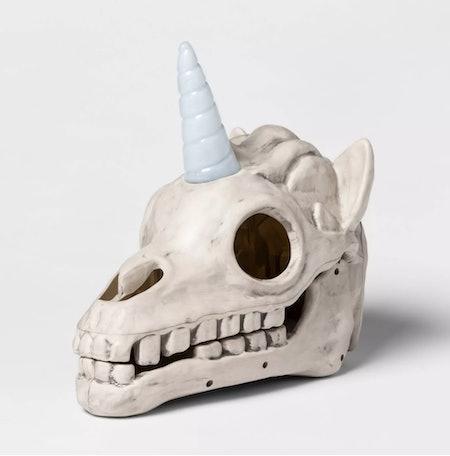 Light-Up Unicorn Color Changing Skull Decorative Halloween Prop - Hyde & EEK! Boutique™