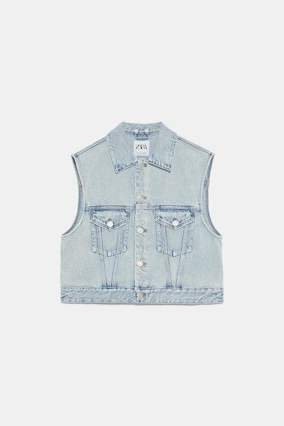 Edited Denim Vest