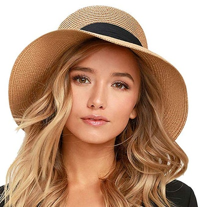 FURTALK Womens Beach Sun Straw Hat