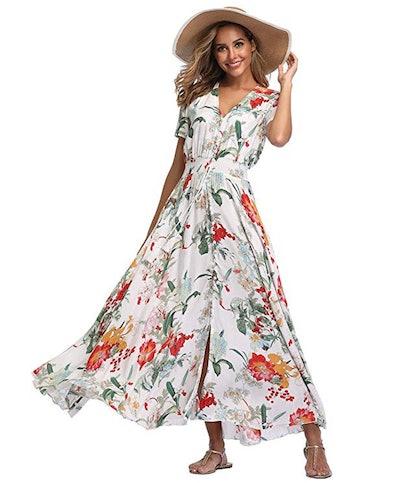 VintageClothing Printed Maxi Dress