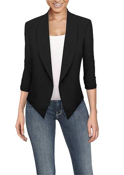 HyBrid & Company Women's Casual Work Office Open Front Blazer Jacket