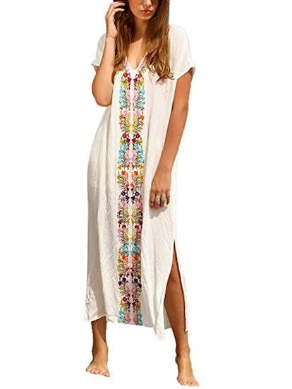 Milumia Bohemian Embroidered Shift Dress