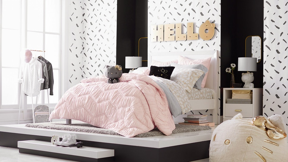 Pbteen Design Your Own Bed.Pbteen S Hello Kitty Collection Sale Includes The Cutest