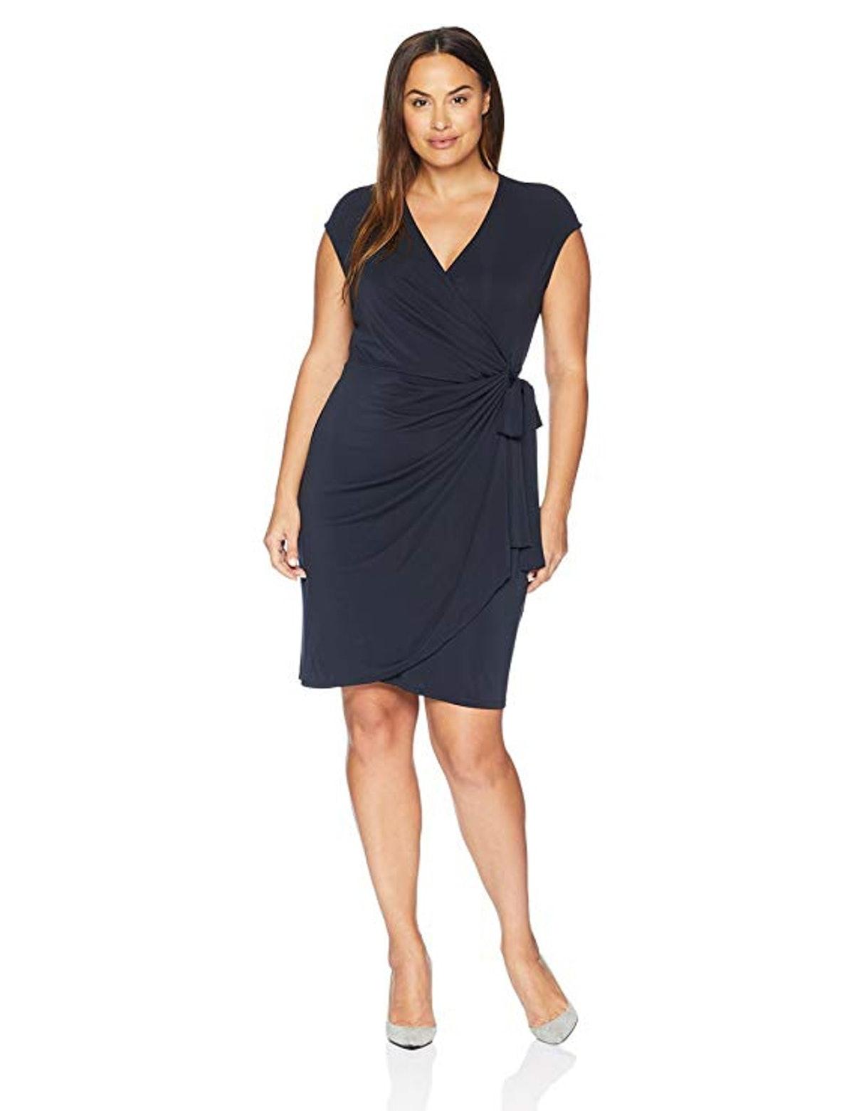 Lark & Ro Plus Size Wrap Dress
