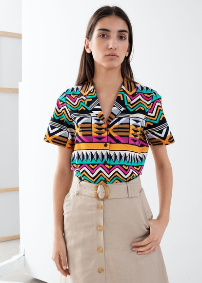 Graphic Button-Up Shirt