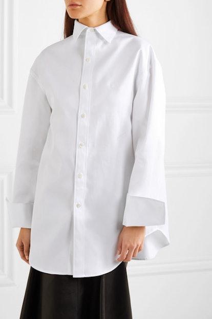 Oversized Cotton-Twill Shirt