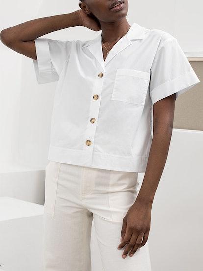 Cotton Button Up Shirt