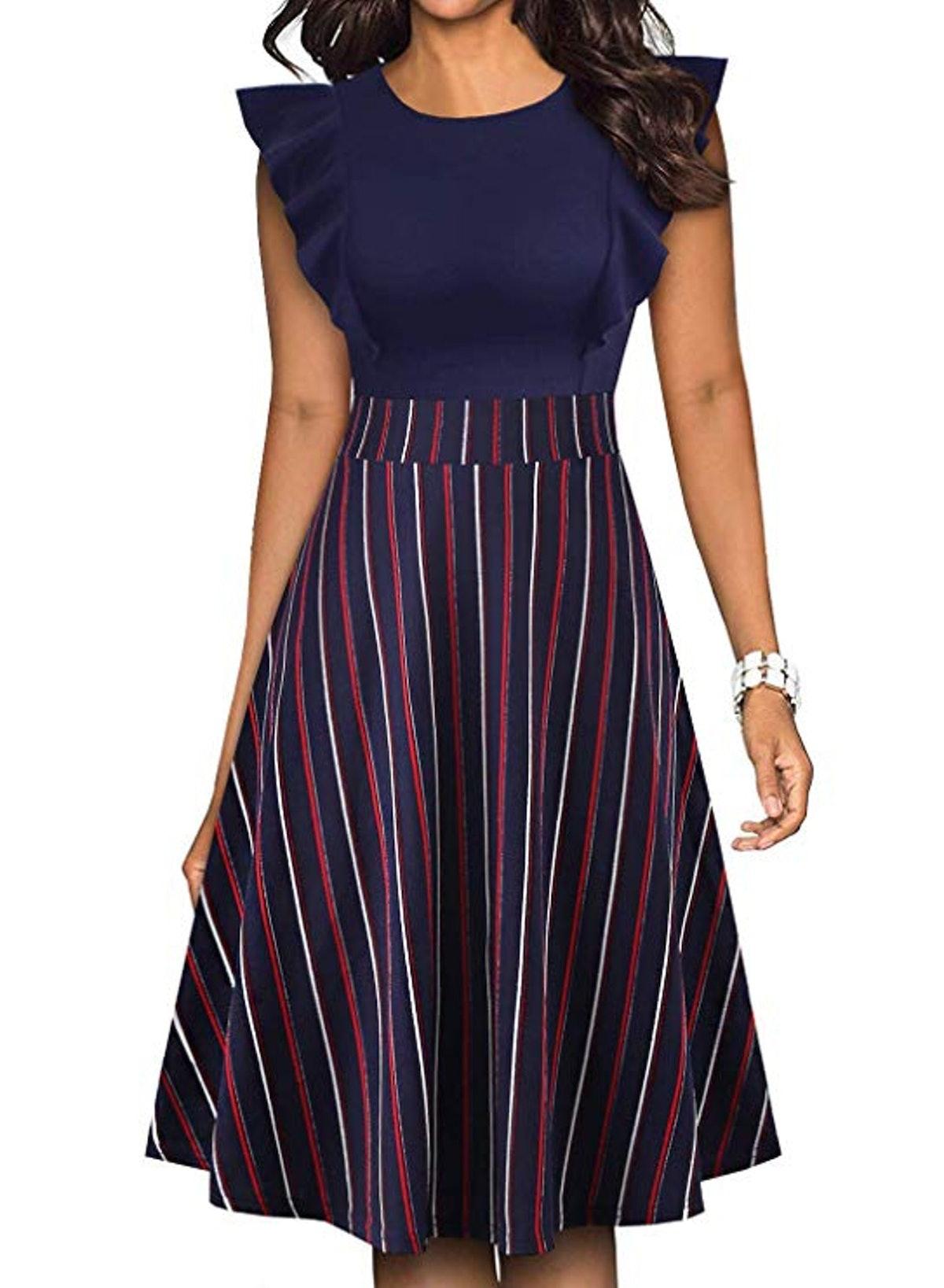 YATHON Vintage-Inspired Swing Dress