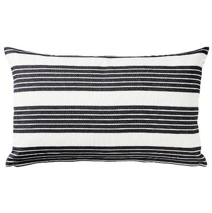 METTALISE Cushion cover, white, dark gray