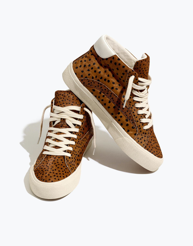 Sidewalk High Top Sneakers in Spot Dot Calf Hair
