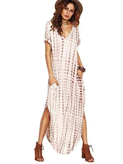 MAKEMECHIC Tie-Dye Maxi Dress