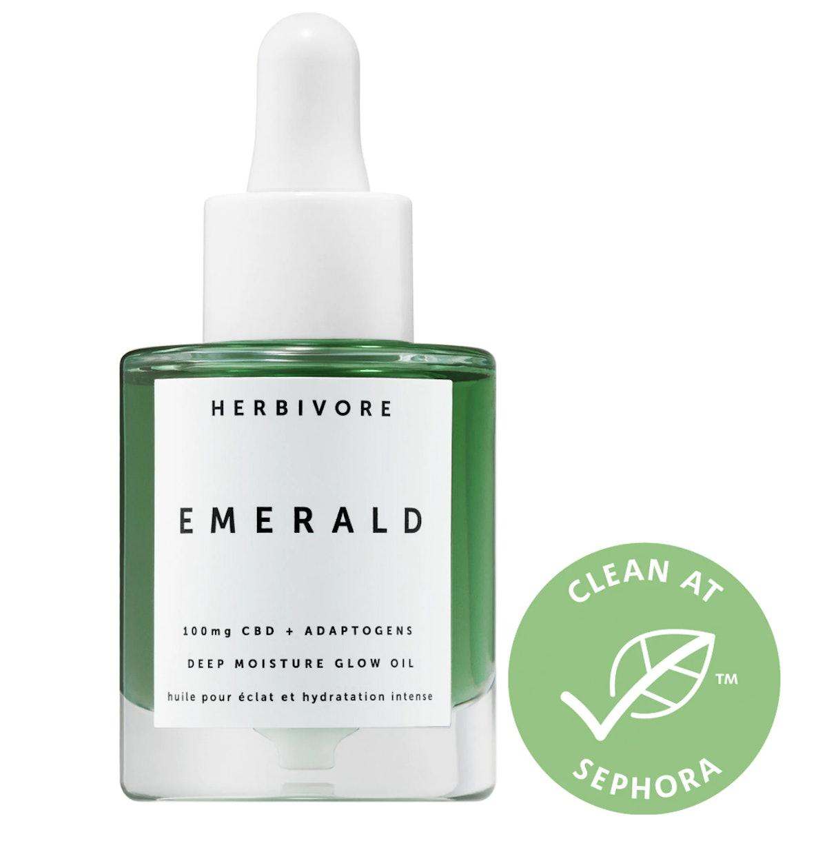 Herbivore Emerald CBD + Adaptogens Deep Moisture Glow Oil